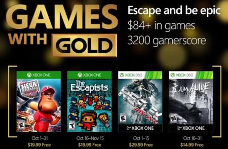 Llegan los Juegos Gold gratuitos de octubre para Xbox 360 y Xbox One