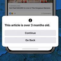 """""""Este artículo tiene más de tres meses"""": Facebook te avisará si estás compartiendo una noticia antigua"""