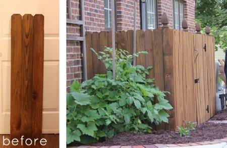 Recicladecoración: convertir una valla de jardín en botellero