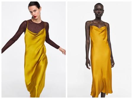 Vestido Zara Lencero