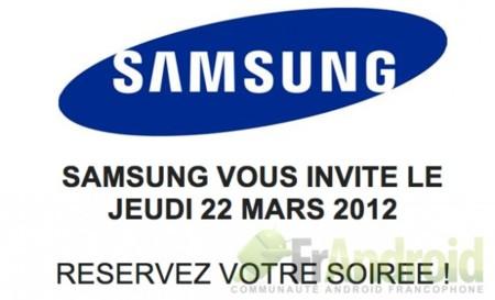 Invitación Samsung Francia 22 de marzo