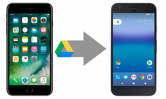 Google Drive intercambiar de iOS™ a Android
