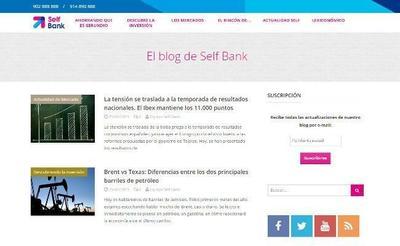 Blog de Self Bank, entra y conoce el nuevo proyecto de empresa