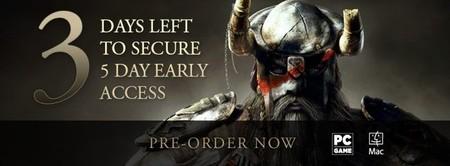 Tan solo restan tres días para el acceso anticipado a The Elder Scrolls Online