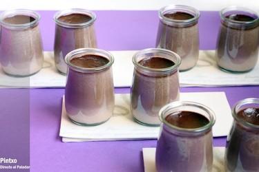 Receta de terrinas de crema de chocolate