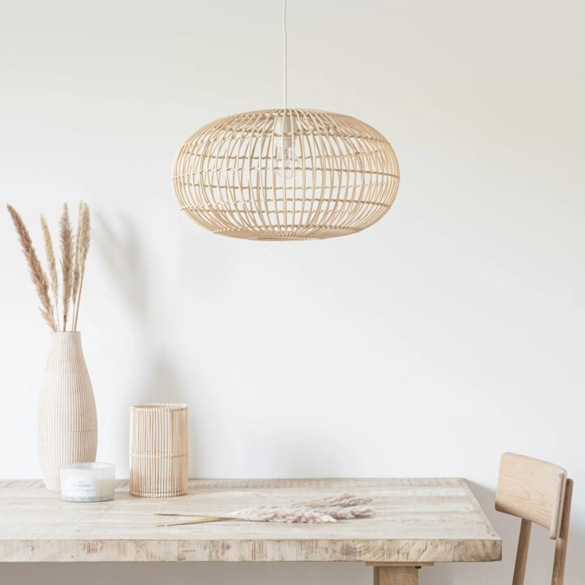 Lámpara de techo de bambú Descripción