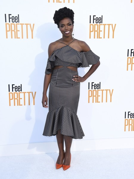 i feel pretty red carpet Sasheer Zamata
