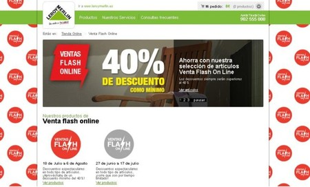 Ventas flash online de leroy merlin descuentos for Leroy merlin flash