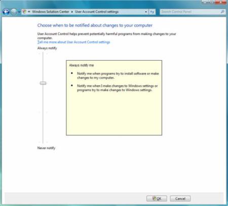 El UAC de Windows 7 será menos intrusivo
