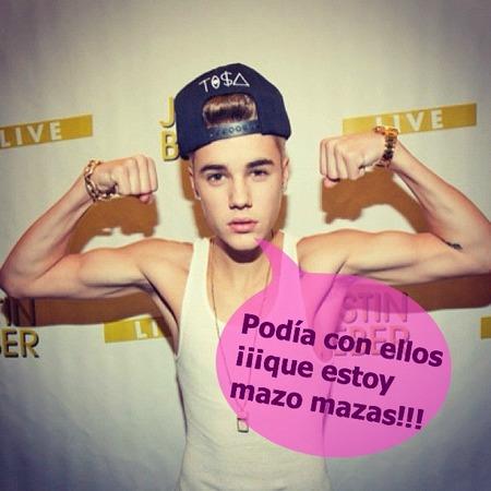 A Justin le salvan los Biebers de milagrito