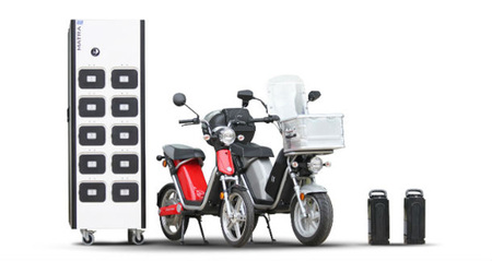 Un sistema de cambio de baterías para scooters eléctricos