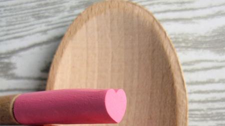 Románticas cucharas corazón para San Valentín