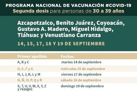 Vacunacion Covid 19 Cdmx 30 39 Anos Calendario Fechas Sedes