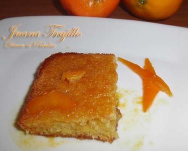 Pastel jugoso de mandarina. Receta