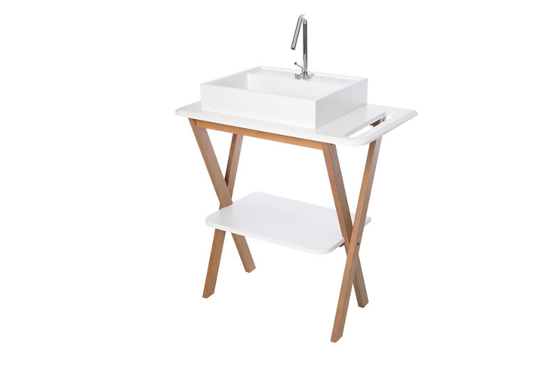 Conjunto mueble baño y lavabo SLIM blanco 81x85x46 cm