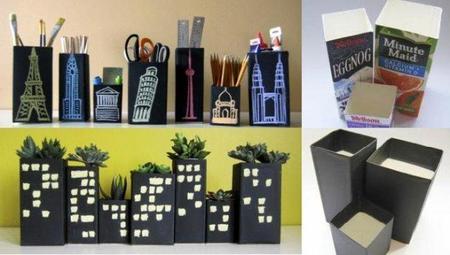 Recicladecoración: paisajes urbanos con bricks