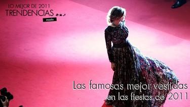 Las famosas mejor vestidas en las fiestas de 2011 (V)