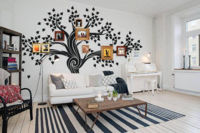 Fotografías de familia para crear un árbol genealógico de pared