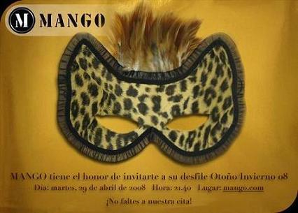 Desfile de Mango otoño-invierno 2008/09, ¡estás invitado!