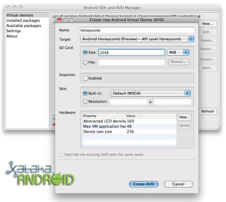create avd sdk android