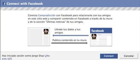 Ya puedes conectarte a Compradicción con tu cuenta de Facebook
