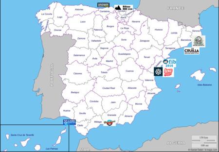 Mapa Festivales Espana