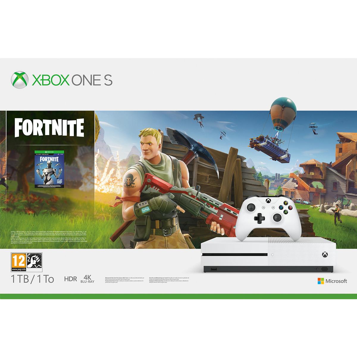 Consola Xbox One S 1TB más el juego Fortnite