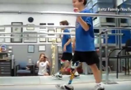 Ben Baltz, el niño que inspira a miles de atletas
