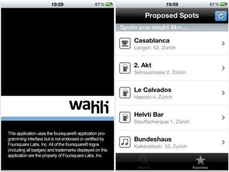 Wahili, descubre nuevos bares y restaurantes con ayuda de Foursquare