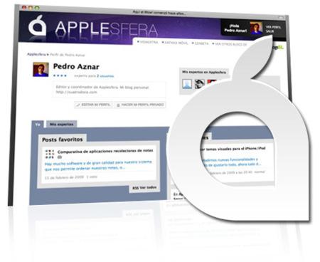 Novedades en Applesfera: Nueva página de perfil de usuario, más completa