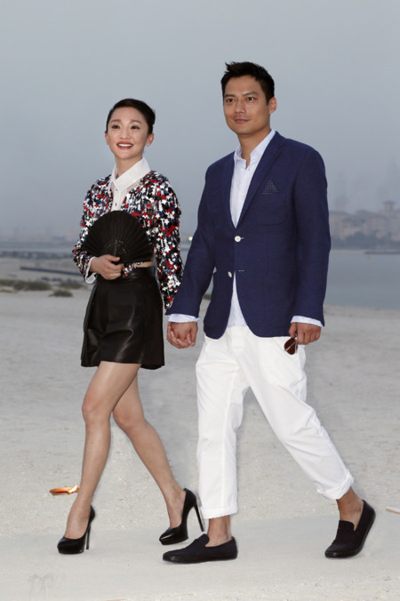 Zhou Xun y Archie David Kao Chanel crucero look