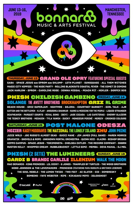 Bonnaroo Line Up 2019