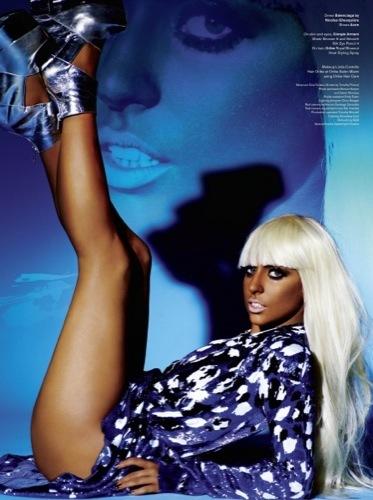 Lady Gaga en el editorial de V IV
