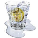 Posa vasos que simulan líquido