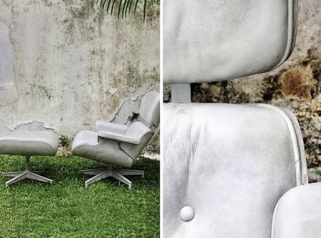 Charles the Chair, una reproducción de la creación de Eames en hormigón