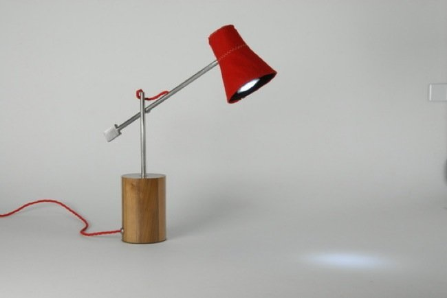 Feltro l mpara de mesa y de tela - Como hacer una lampara de mesa ...