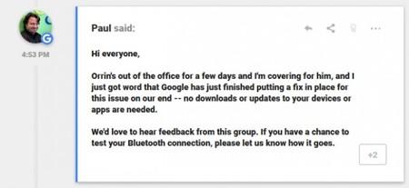 Google Pixel problemas Bluetooth