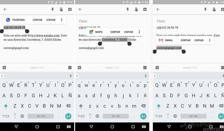 Android Oreo Selector Texto Inteligente