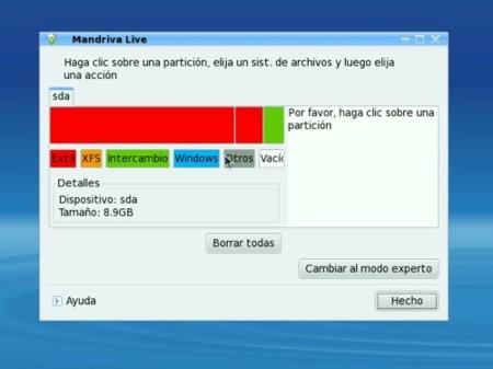Mandriva Linux 2009 Spring - Particionado de discos