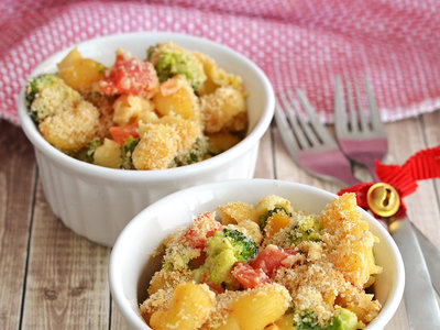 Mac 'N Cheese con verduras. Receta
