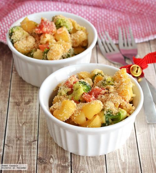 Mac 'N Cheese con verduras. Receta