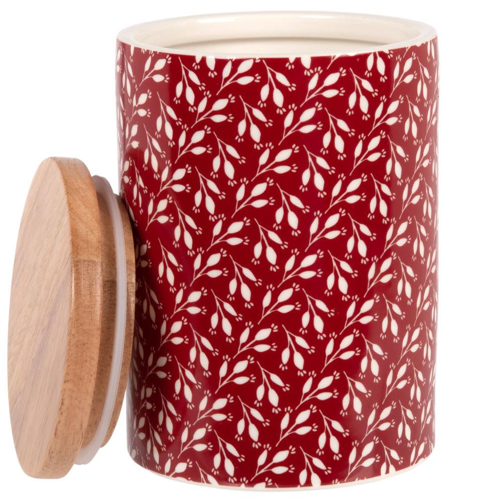 Maceta de gres y bambú rojo