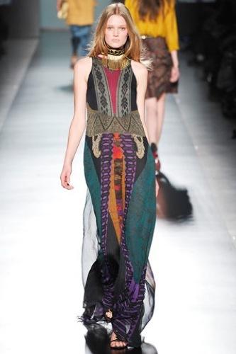 Etro Otoño-Invierno 2009/2010 en la Semana de la Moda de Milán, vestido