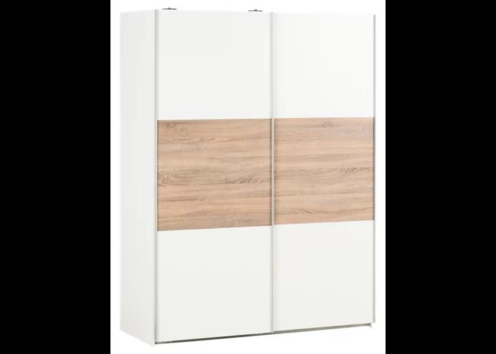 Armario ropero puerta corredera One Blanco / Roble 150x200x60cm