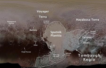 Catorce nuevos nombres con los que hemos bautizado lugares de Plutón