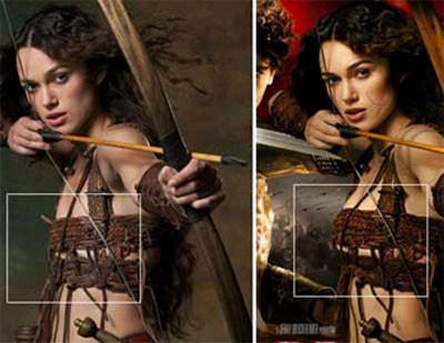 Las 7 diferencias: Keira Knightley en los posters de 'El rey Arturo'