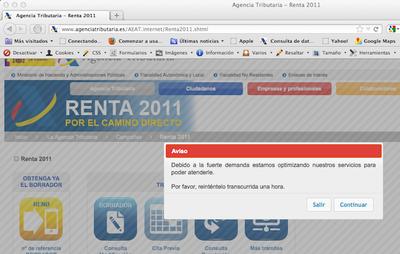 El estrés tributario de la población tira la web de Hacienda en la campaña de Renta2011