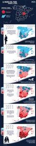 La marea negra del paro asola España desde el sur al norte (infografía)