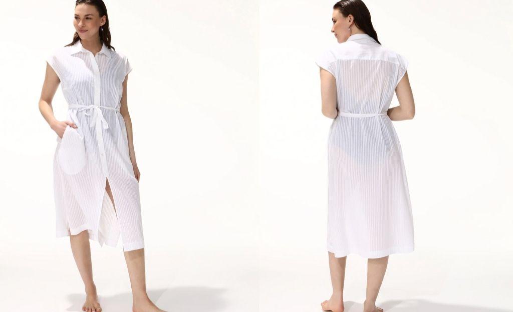 Camisola corta lisa sin mangas