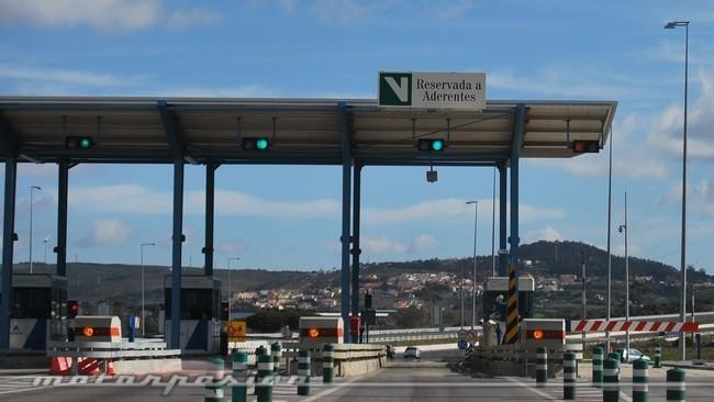 Peaje con barrera en Portugal (Vía Verde)